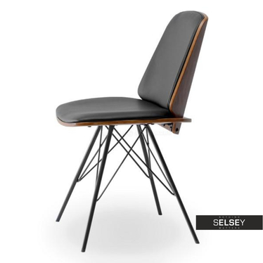 Krzesło Mantis orzech-czarny