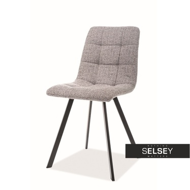 Krzesło Karla szara plecionka