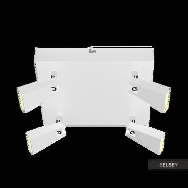 Lampa sufitowa Vanessa biała x4