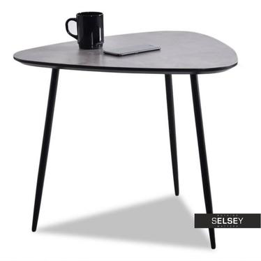Stolik kawowy Rosin 59x56 cm beton-czarny do industrialnego salonu