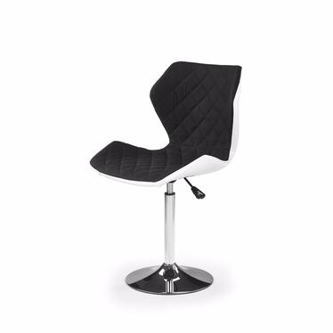 Fotel biurowy Kall 2 biało-czarny