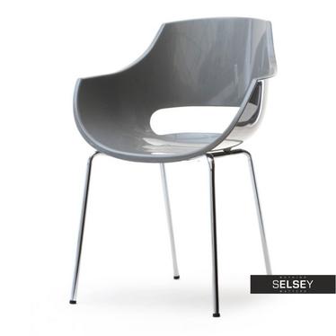 Krzesło Bingo szare z tworzywa