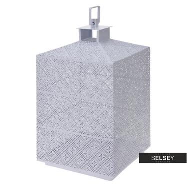Latarenka metalowa 31 cm biała