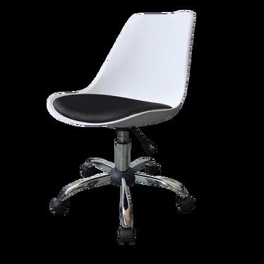 Fotel biurowy Luis bis biało - czarny