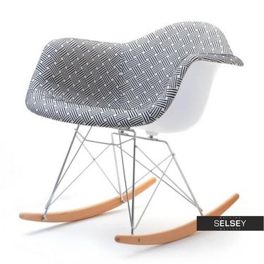 Fotel bujany MPA ROC tap modern z metalowymi cięgnami na drewnianych płozach
