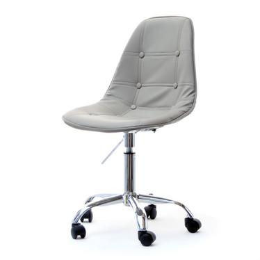 Fotel biurowy MPC move tap szary - chrom pikowany