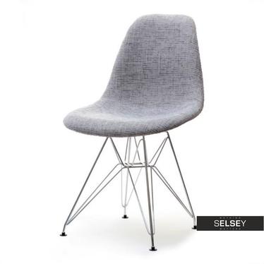 Krzesło MPC rod tap szare na chromowanych nóżkach