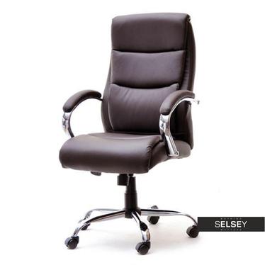 Fotel biurowy Luks brązowy obrotowy