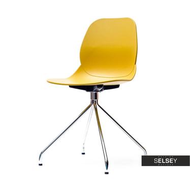 Krzesło Leaf rod musztardowe