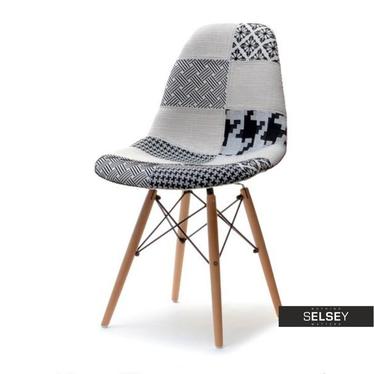 Krzesło MPC wood tap patchwork 2 na drewnianych nogach