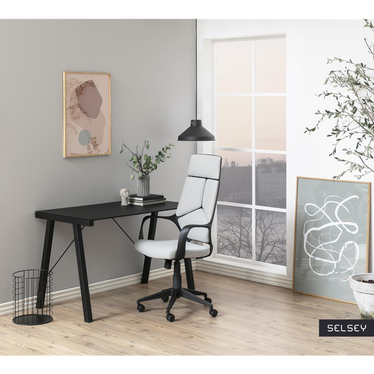 Fotel biurowy Seledon szary