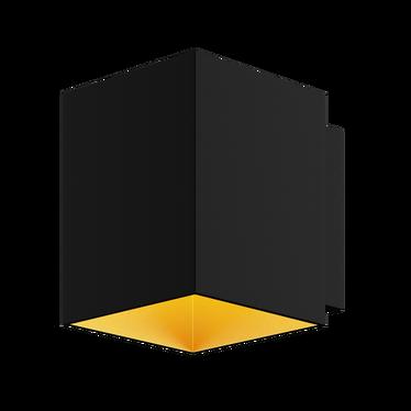 Kinkiet Barnett kwadratowy czarny