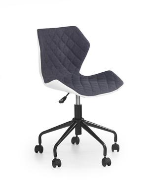 Fotel biurowy Kall biało-popielaty