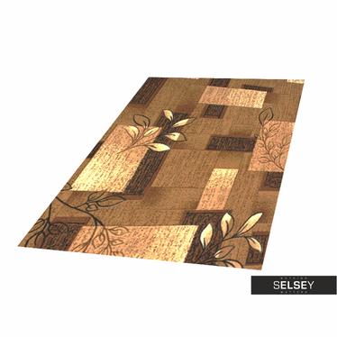 Dywan Stamp Flora 1 brązowy