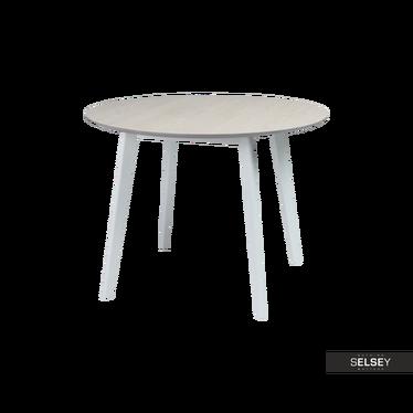 Stół Ikast średnica 100 cm z bielonym blatem