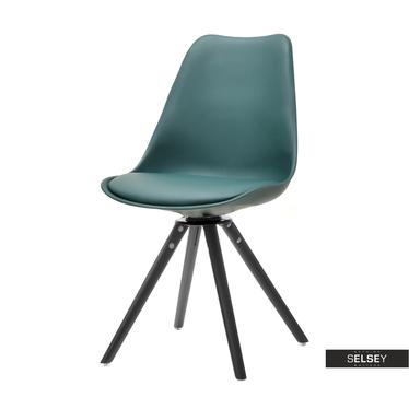 Krzesło Luis rot szałwia-czarne do kuchni obrotowe