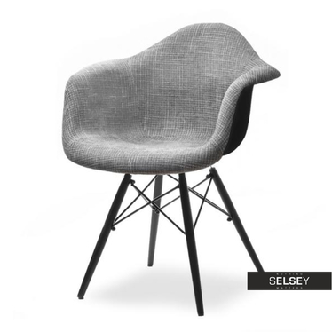 Krzesło MPA wood tap szaro-czarne nowoczesne do jadalni