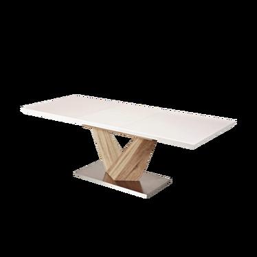 Stół Aramoko 160(220)X90 cm sonoma - biały