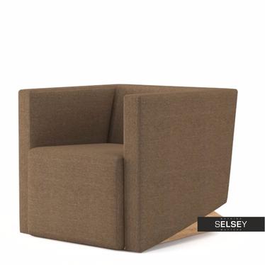 Fotel Plain 21 brązowy jasny