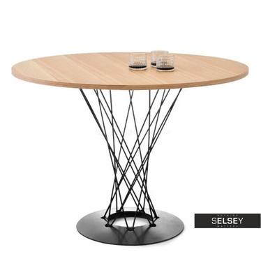 Stół Tornado jesion - czarny okrągły