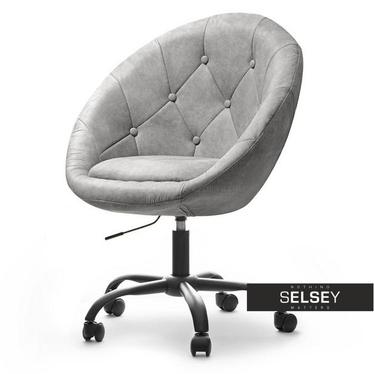 Fotel biurowy Lounge 4 szary - czarny w stylu vintage