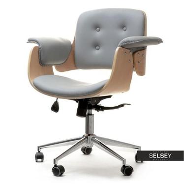 Fotel biurowy Duck buk-szary obrotowy