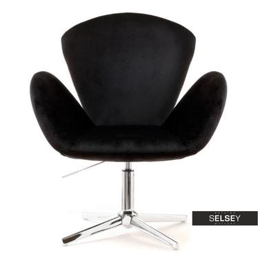 Fotel biurowy Swan czarny velvet