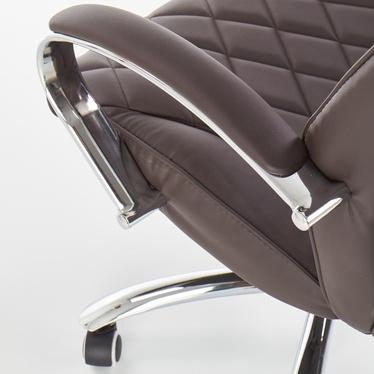 Fotel biurowy Komolac brązowy