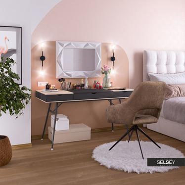 Biurko-toaletka Boden czarne w skandynawskim stylu