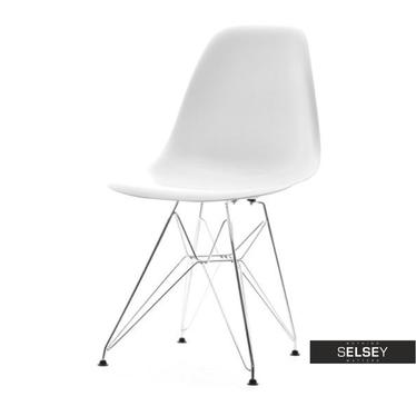 Krzesło MPC Rod białe industrialne