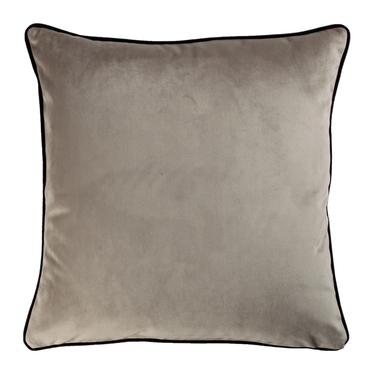 Poduszka dekoracyjna Sylvanca w tkaninie EASY CLEAN 45x45 cm szarobrązowa