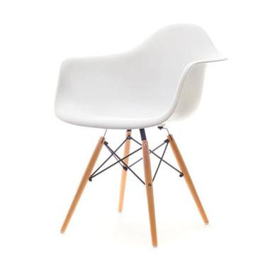 Krzesło MPA wood białe z podłokietnikami