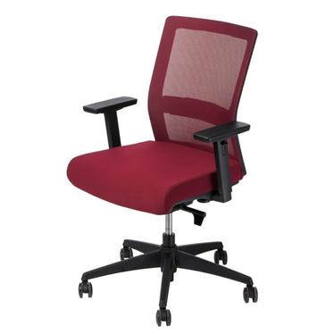 Fotel biurowy Press czerwony z obrotowym siedziskiem