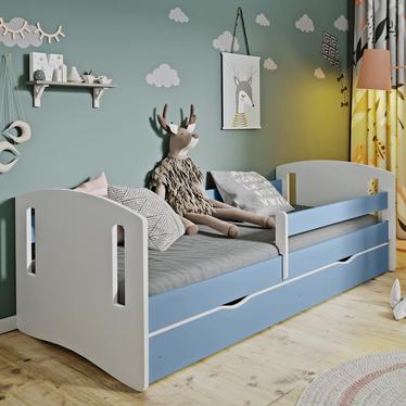 Łóżeczko dziecięce Mirret niebieskie