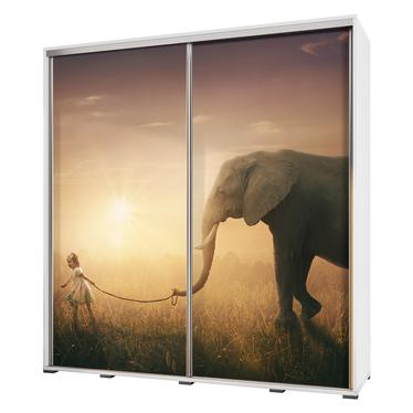 Szafa Wenecja 205 cm Spacer ze słoniem