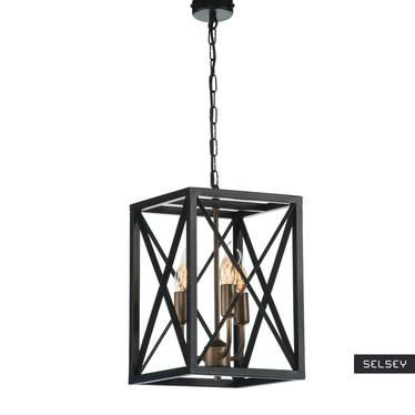 Lampa wiszaca Kubikum x3 z kratką