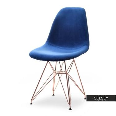 Krzesło MPC rod tap granat-miedź designerskie z oparciem
