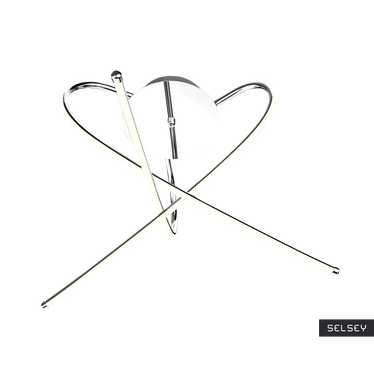 Plafon Splice srebrny x3
