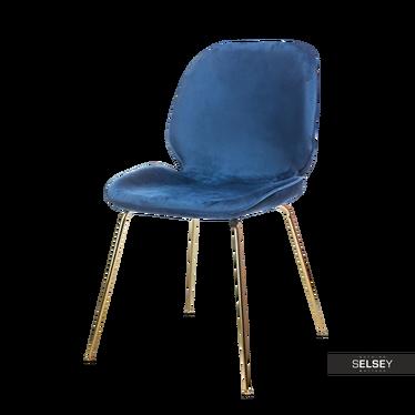 Krzesło Saunte granatowe