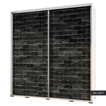 Szafa Wenecja 205 cm Czarna cegła