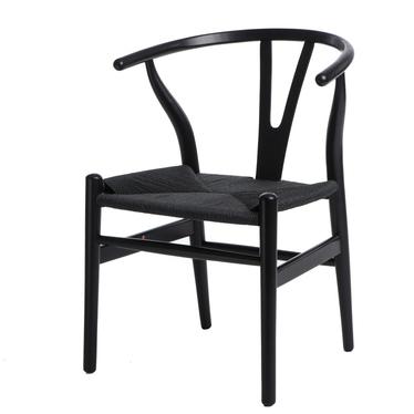 Krzesło Wicker czarne