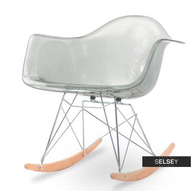 Fotel bujany MPA ROC transparentny dymiony bujak z tworzywa