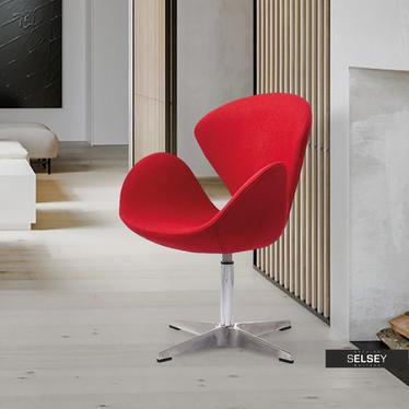 Fotel biurowy Tonale czerwony