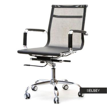 Fotel biurowy Lion czarny z podłokietnikami