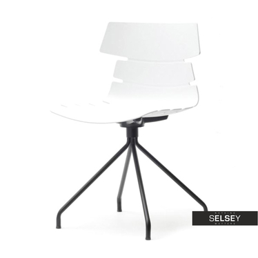Krzesło Zac rod białe z tworzywa