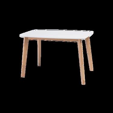 Stół Ikast 120x75 cm z białym blatem