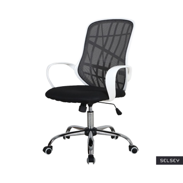 Fotel biurowy Collins czarno - biały