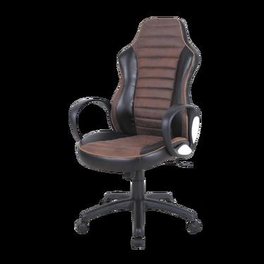 Fotel biurowy Ribero brązowo - czarny