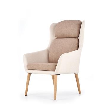 Fotel Serra beżowo - brązowy