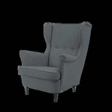 Fotel Torino uszak ciemnoszary